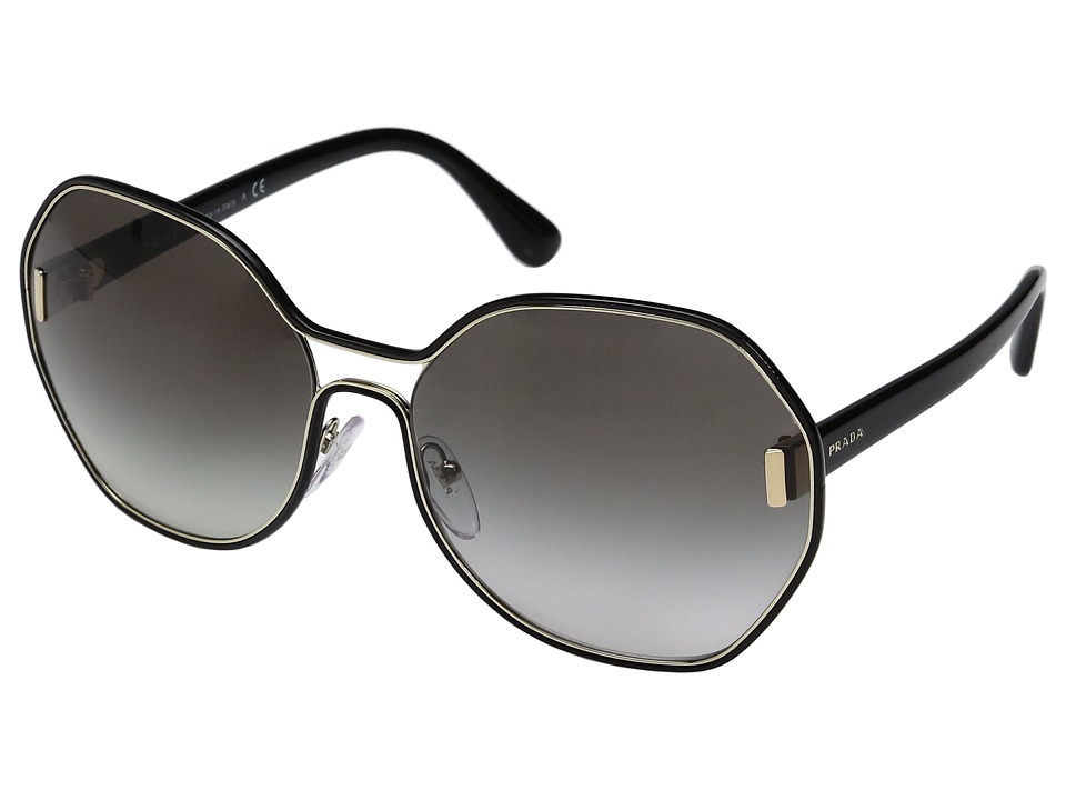 Prada - 0PR 53TS (Pale Gold/Black/Grey Gradient) Fashion Sunglasses