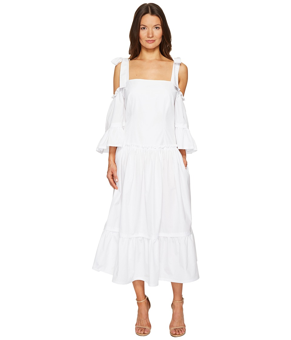 Alberta Ferretti Cold Shoulder Dress (White) Women