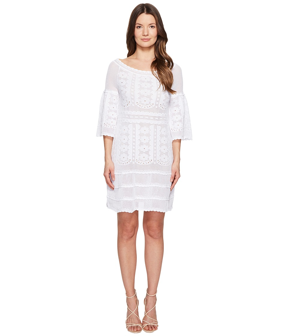 Alberta Ferretti 3/4 Sleeve Dress (White) Women