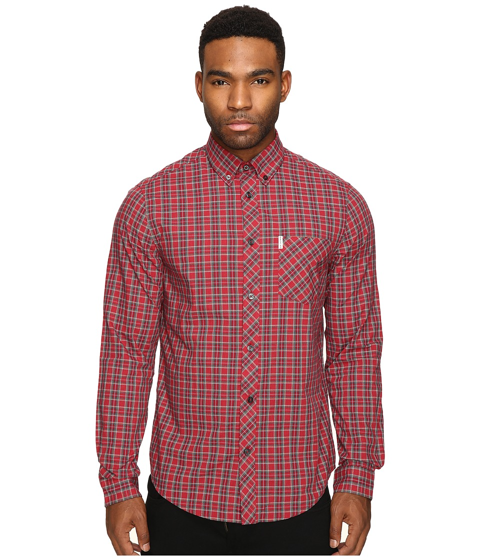 Ben Sherman - Classic Tartan Check (Letterbox Red Marl) Men's Clothing