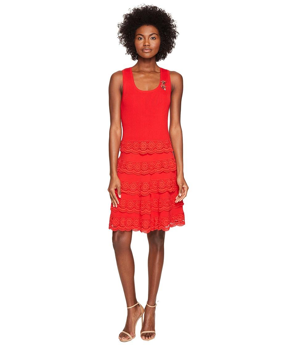 The Kooples - Robe Sans Manches En Maille Dress (Red) Women's Dress