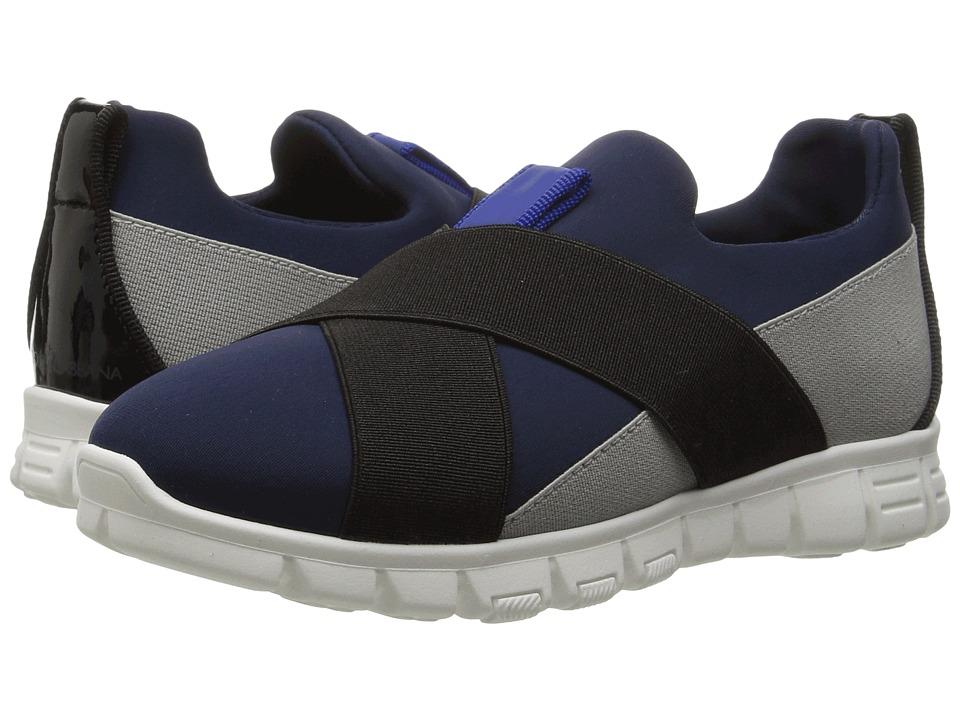 Dolce & Gabbana Kids - Slip-On Sneaker (Toddler/Little Kid) (Blue/Grey) Boy's Shoes