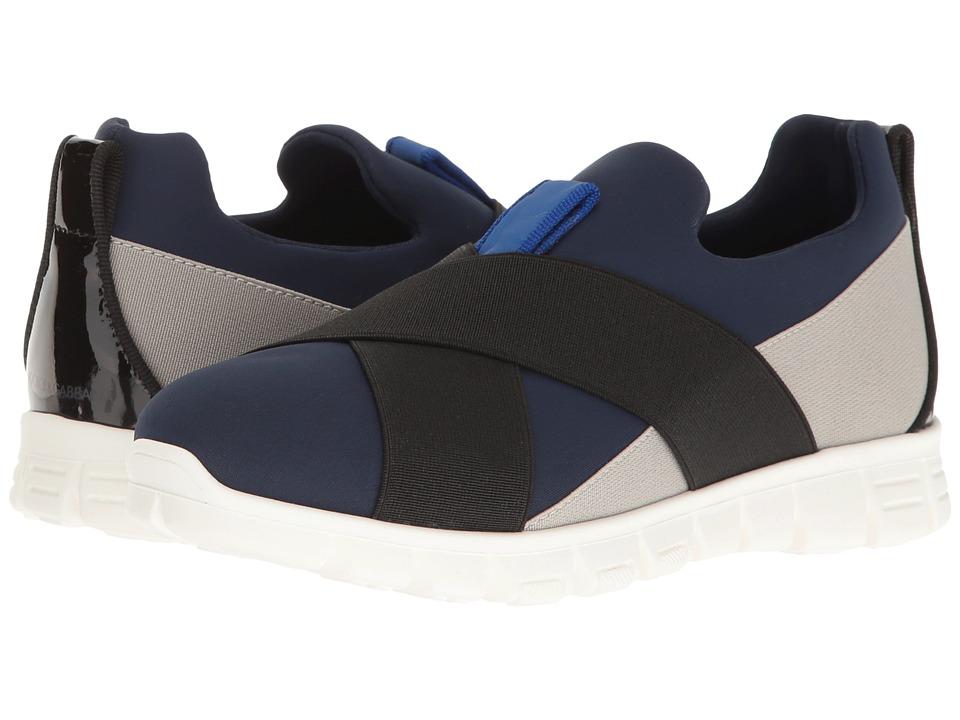 Dolce & Gabbana Kids - Slip-On Sneaker (Little Kid) (Blue/Grey) Boy's Shoes