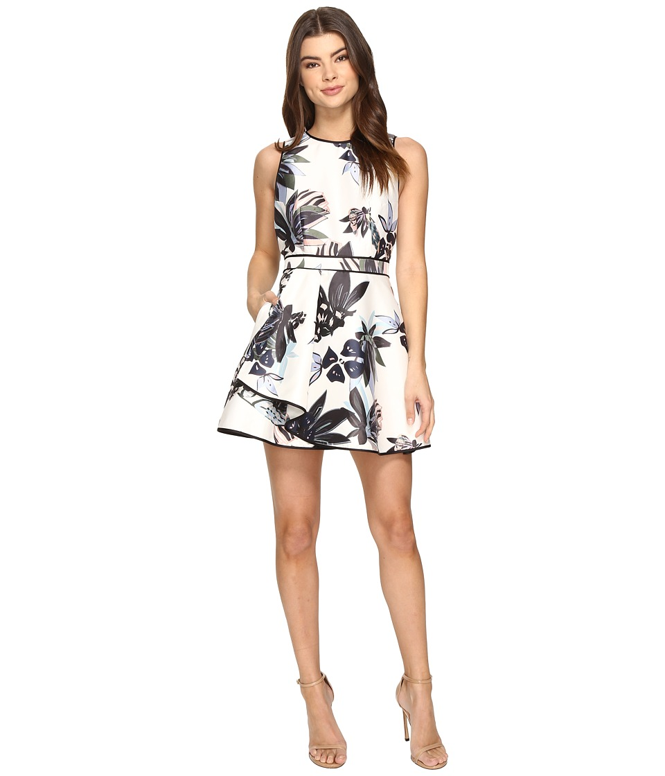 KEEPSAKE THE LABEL - Coming Home Mini Dress (Abstract Floral Print) Women's Dress