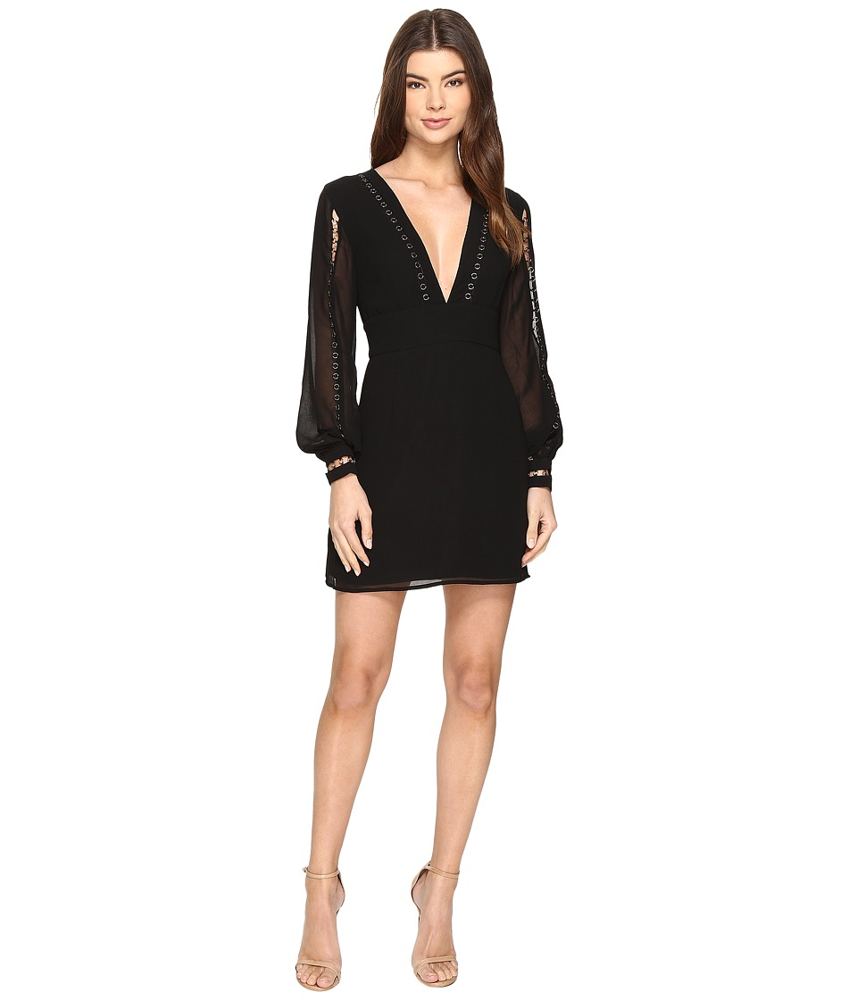 KEEPSAKE THE LABEL - In My Eyes Long Sleeve Dress (Black) Women's Dress