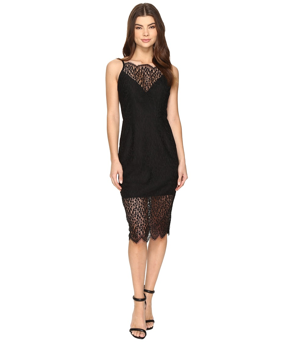 KEEPSAKE THE LABEL - Day Dream Lace Dress (Black) Women's Dress