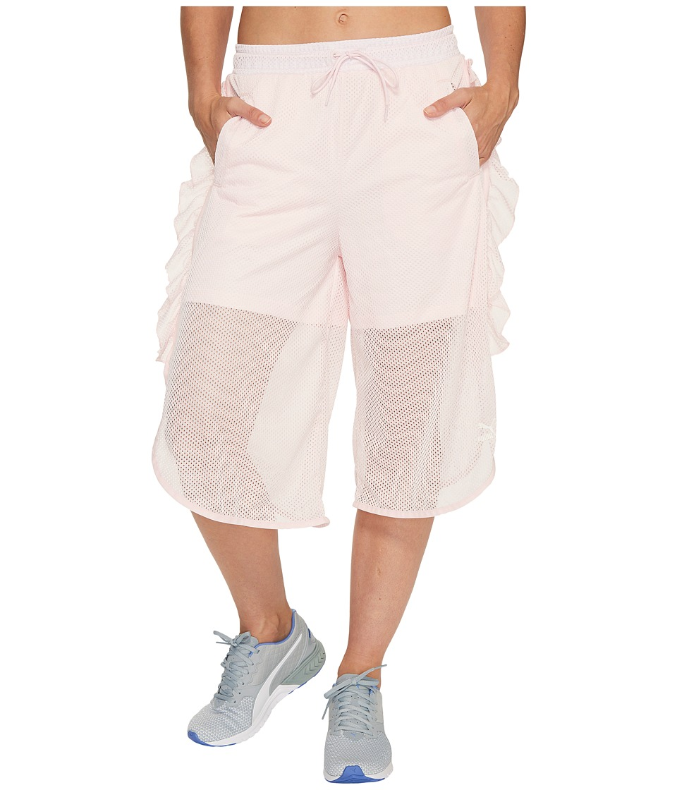 PUMA - Xtreme Mesh Frill Shorts (Blushing Bride) Women's Shorts