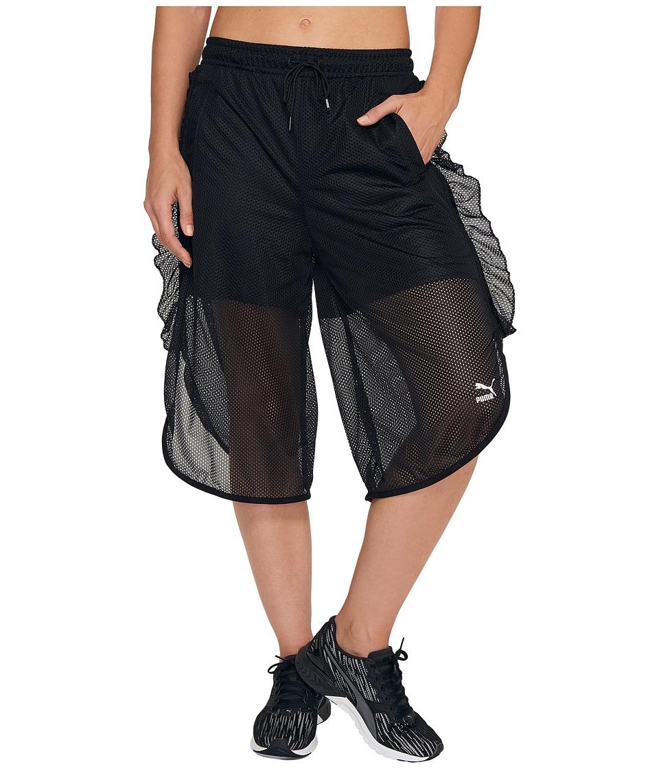 PUMA - Xtreme Mesh Frill Shorts (PUMA Black) Women's Shorts