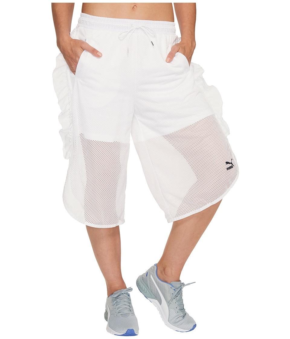 PUMA - Xtreme Mesh Frill Shorts (PUMA White) Women's Shorts