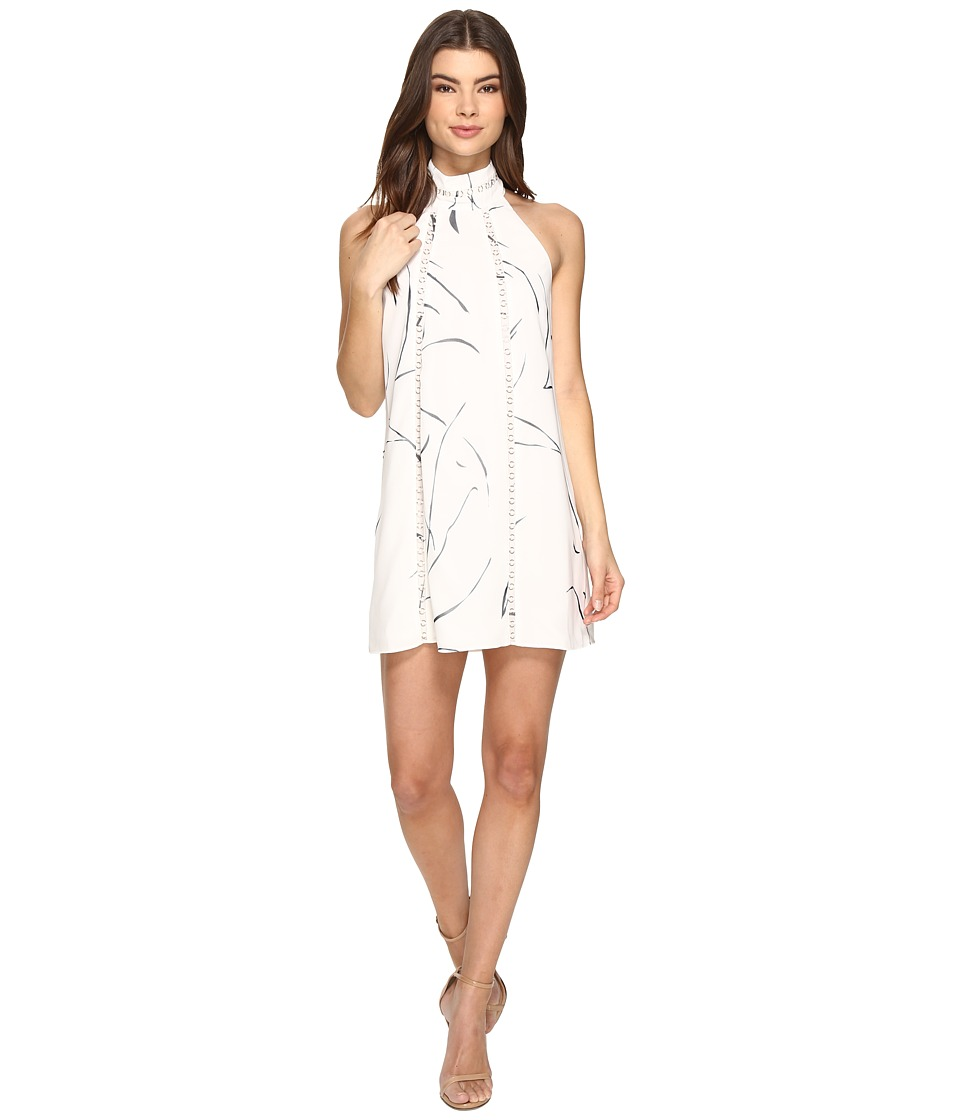 KEEPSAKE THE LABEL - In My Eyes Mini Dress (Ivory Sketch Print) Women's Dress