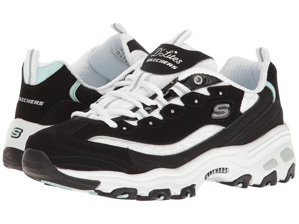 SKECHERS - D'Lites (Black/White) Women's Lace up casual Shoes