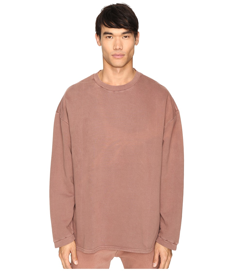 adidas Originals by Kanye West YEEZY SEASON 1 - Long Sleeve Crew Shirt (Cognac) Men's Clothing