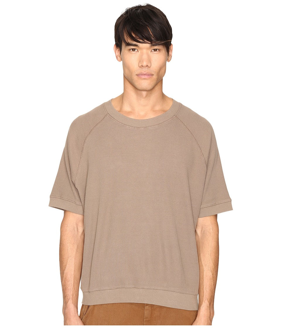 adidas Originals by Kanye West YEEZY SEASON 1 - Long Sleeve Thermal Tee (Fossil) Men's T Shirt