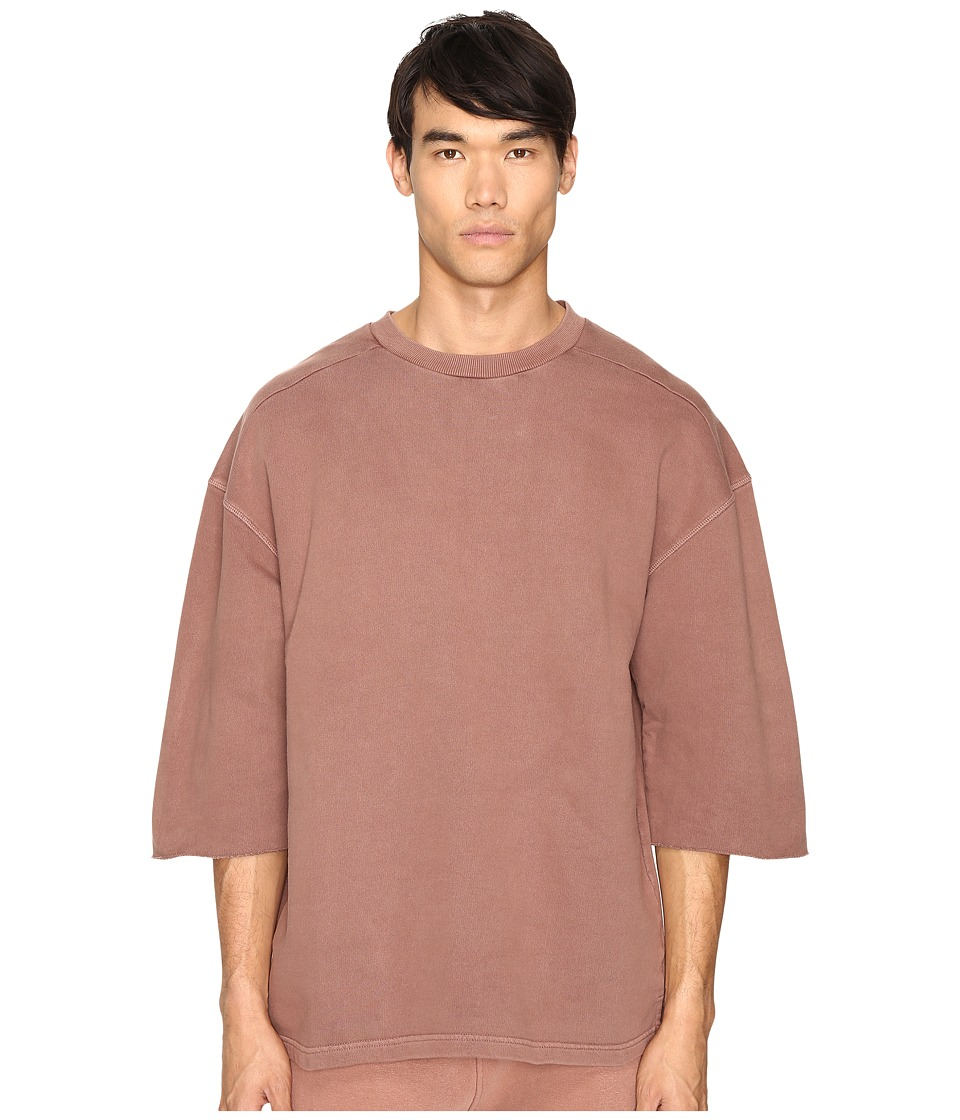 adidas Originals by Kanye West YEEZY SEASON 1 - Short Sleeve Sweatshirt Tee (Cognac) Men's T Shirt