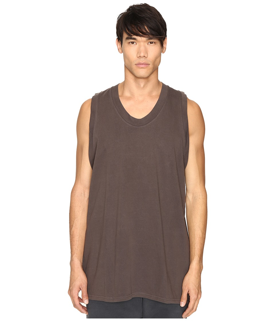 adidas Originals by Kanye West YEEZY SEASON 1 - Jersey Tank Top (Mole) Men's Sleeveless