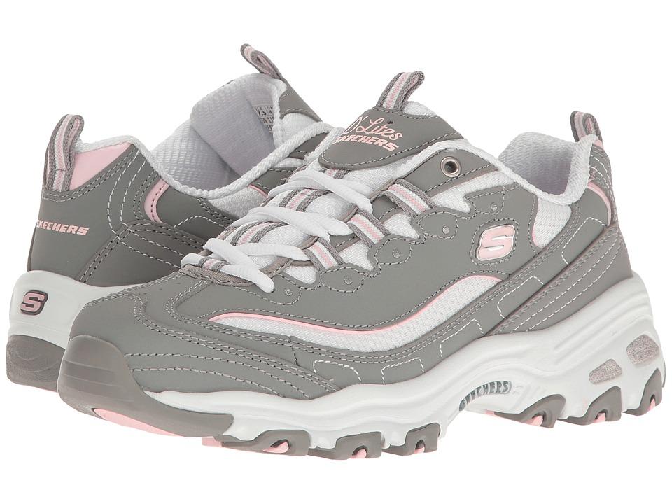 SKECHERS - D'Lites - Biggest Fan (Gray/White) Women's Shoes