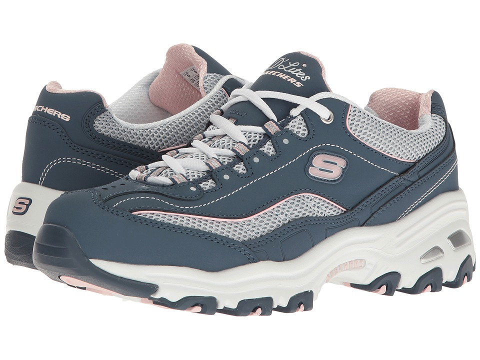 SKECHERS - D'Lites - Life Saver (Navy) Women's Lace up casual Shoes