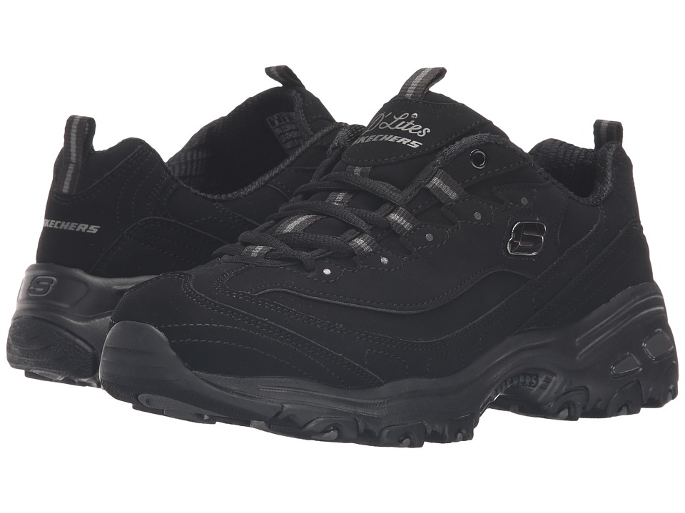 SKECHERS - D'Lites - Play On (Black) Women's Lace up casual Shoes