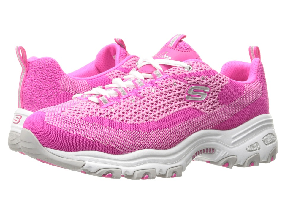 SKECHERS - D'Lites - Reinvention (Hot Pink) Women's Lace up casual Shoes