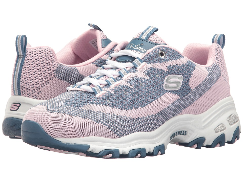 SKECHERS - D'Lites - Reinvention (Pink) Women's Lace up casual Shoes