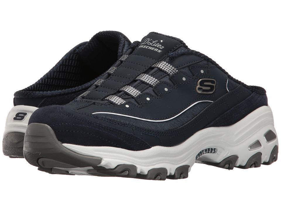 SKECHERS - D'Lites - Resilient (Navy) Women's Slip on Shoes
