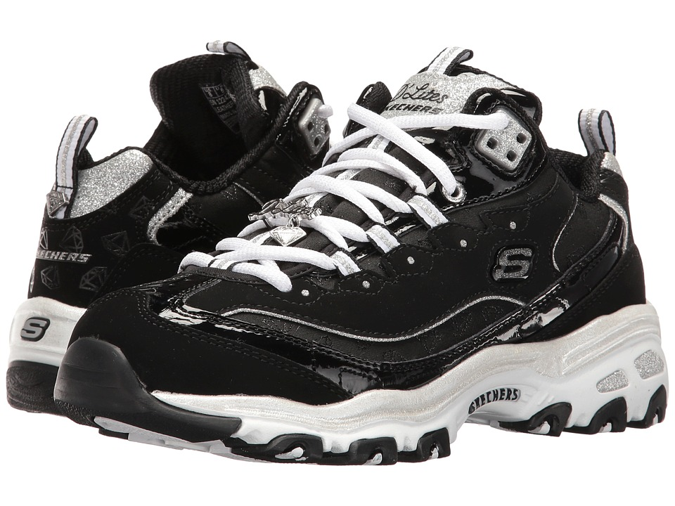 SKECHERS - D'Lites - Style Revamp (Black/White) Women's Lace up casual Shoes