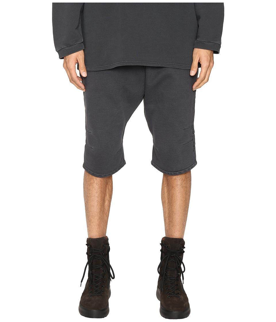 Image of adidas Originals by Kanye West YEEZY SEASON 1 - FJ Shorts (Caviar) Men's Shorts