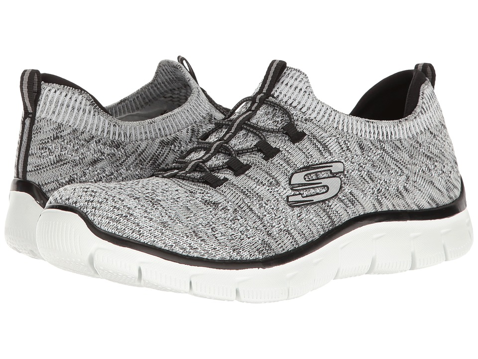 SKECHERS - Empire - Sharp Thinking (White/Black) Women's Lace up casual Shoes