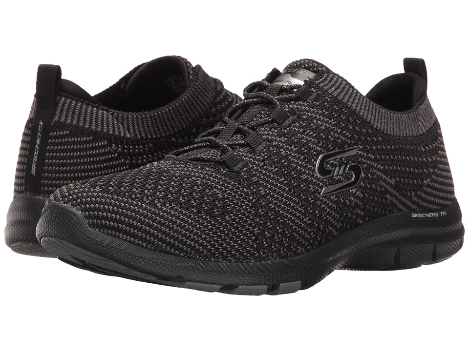 SKECHERS - Galaxies (Black) Women's Lace up casual Shoes
