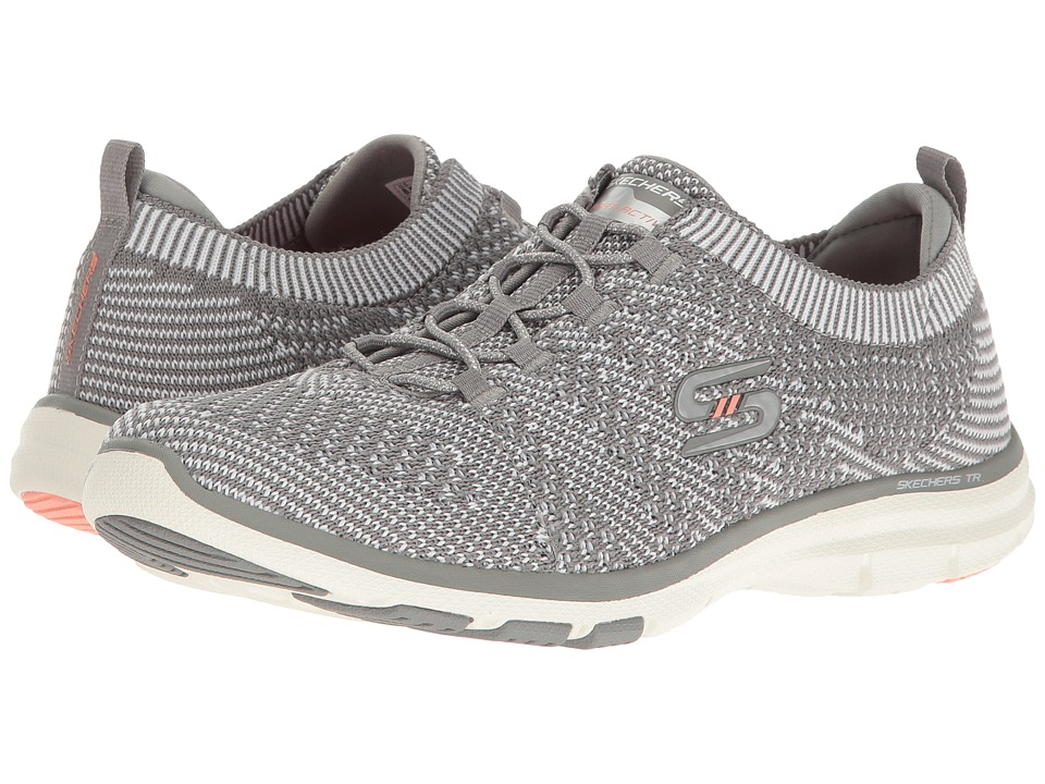 SKECHERS - Galaxies (Gray/White) Women's Lace up casual Shoes