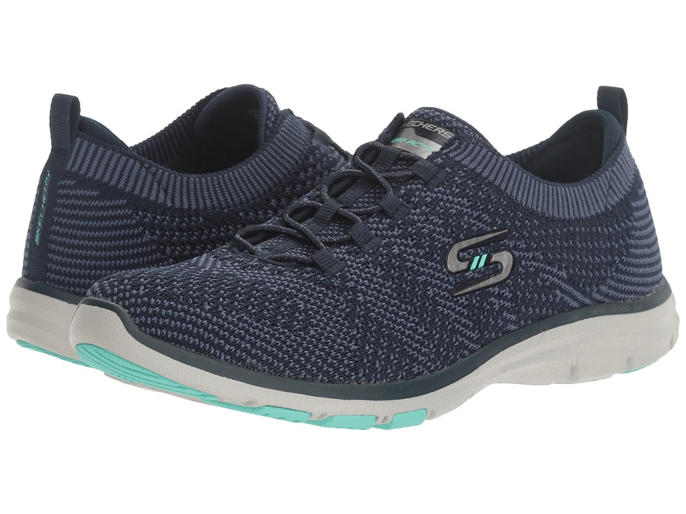 SKECHERS - Galaxies (Natural/Blue) Women's Lace up casual Shoes