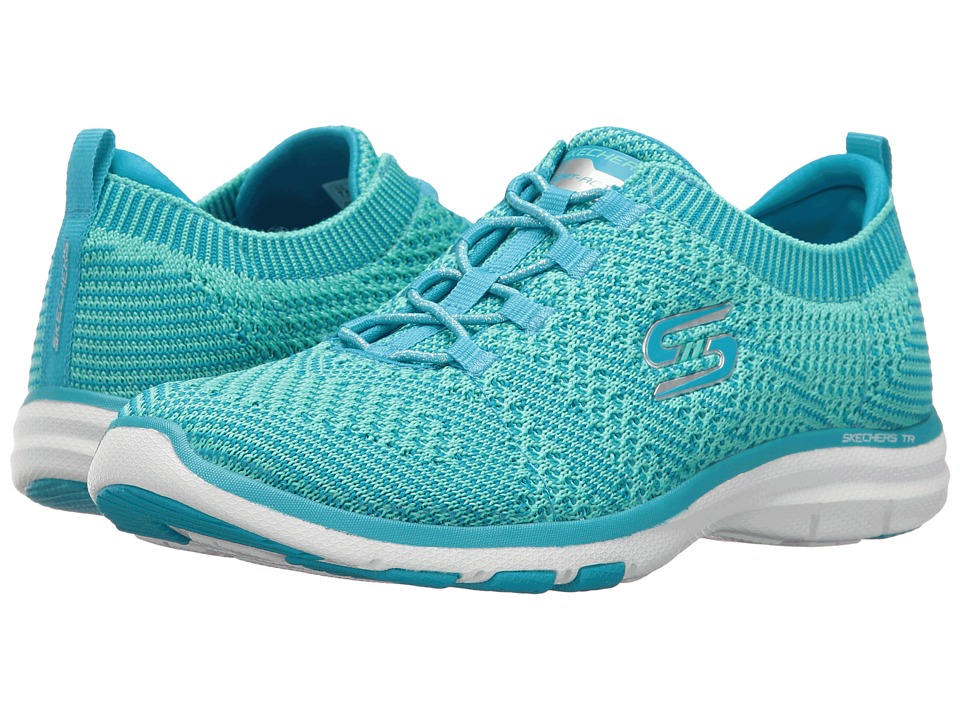 SKECHERS - Galaxies (Blue/Green) Women's Lace up casual Shoes