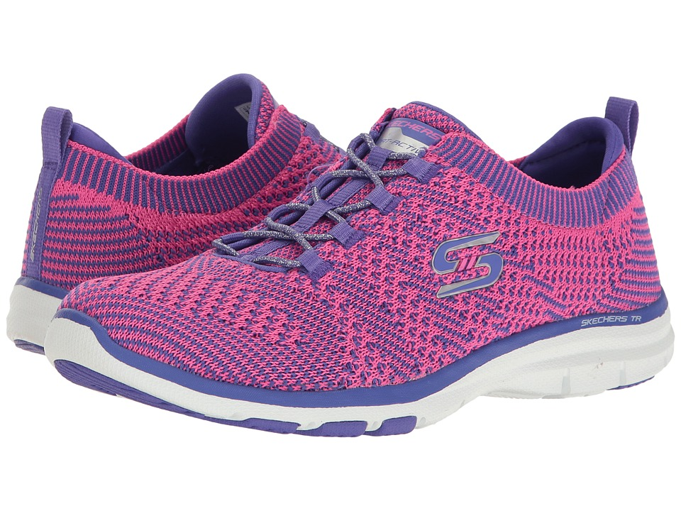 SKECHERS - Galaxies (Purple/Pink) Women's Lace up casual Shoes