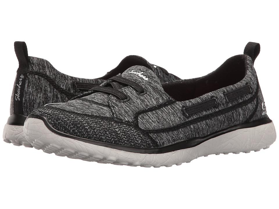 SKECHERS - Microburst - Topnotch (Black) Women's Lace up casual Shoes