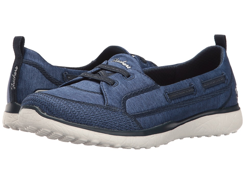 SKECHERS - Microburst - Topnotch (Navy) Women's Lace up casual Shoes