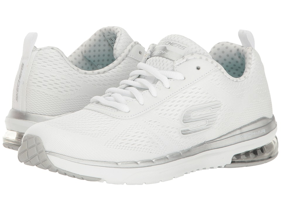 SKECHERS - Skech-Air Infinity (White) Women's Lace up casual Shoes