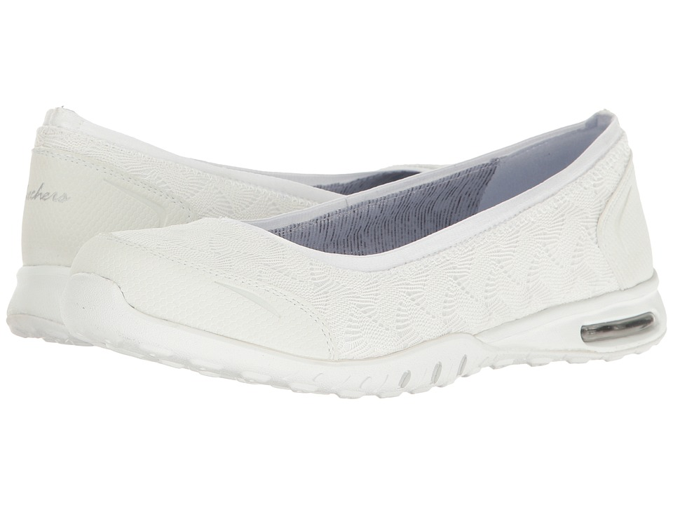 SKECHERS - Easy Air - Join Me (White) Women's Slip on Shoes