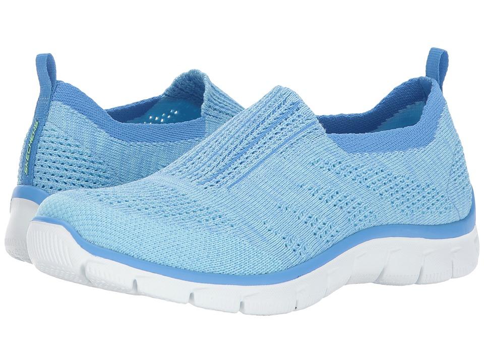 SKECHERS - Empire - Inside Look (Light Blue) Women's Slip on Shoes