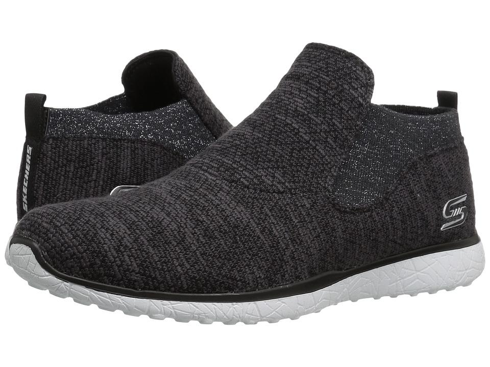 SKECHERS - Microburst - Imagination (Black/White) Women's Slip on Shoes