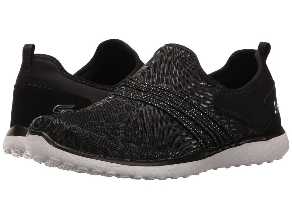 SKECHERS - Microburst - Under Wraps (Black 1) Women's Slip on Shoes