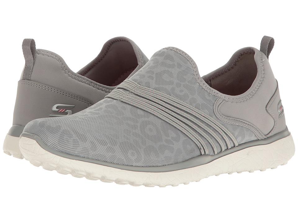 SKECHERS - Microburst - Under Wraps (Gray) Women's Slip on Shoes