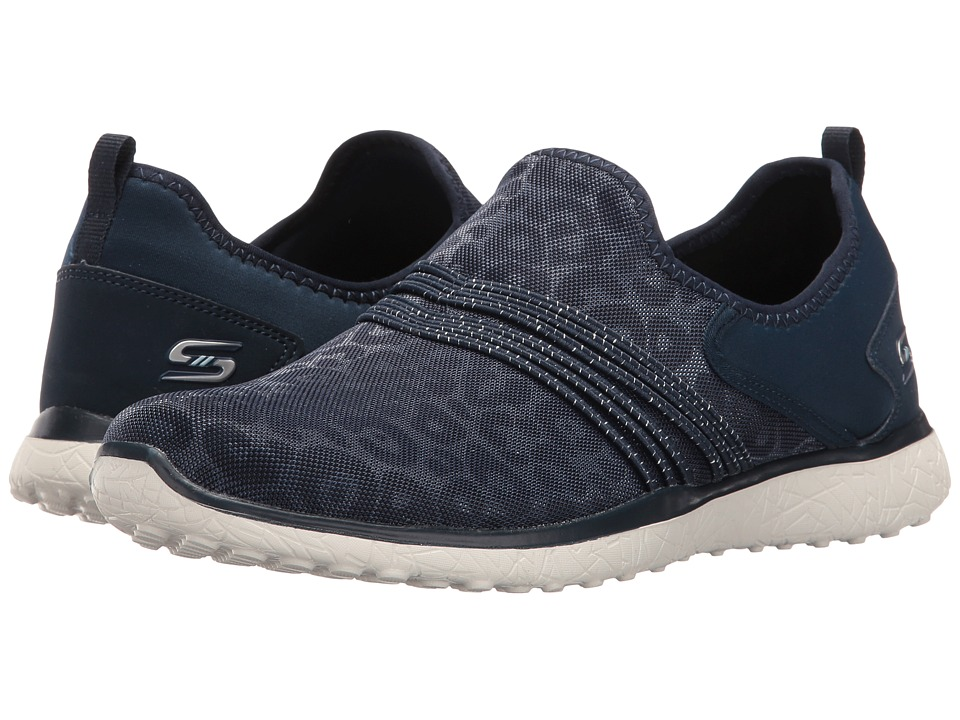 SKECHERS - Microburst - Under Wraps (Navy) Women's Slip on Shoes