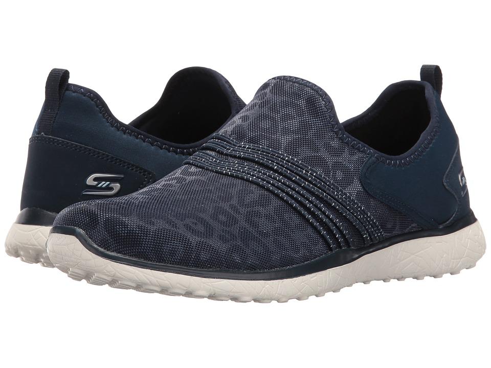 SKECHERS - Microburst - Under Wraps (Navy) Women's Slip on Shoes