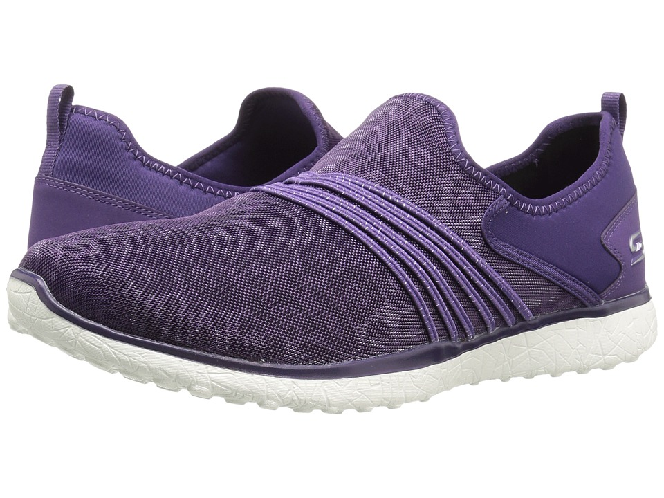 SKECHERS - Microburst - Under Wraps (Purple) Women's Slip on Shoes