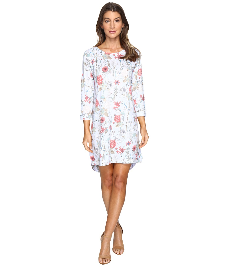 Nally & Millie - Sky Blue Floral Dress (Multi) Women's Dress