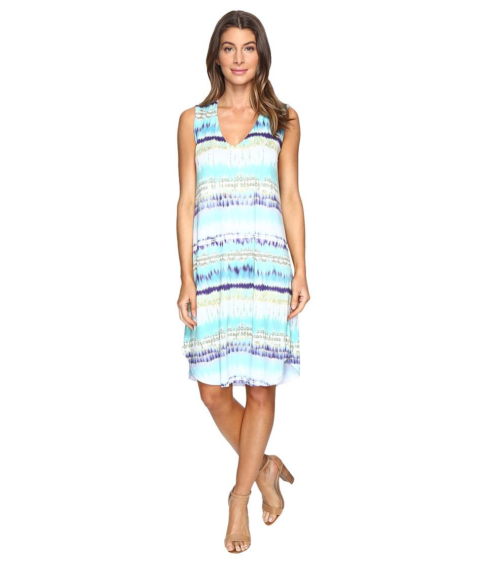 Nally & Millie - Sleeveless Tie-Dye Stripe Dress (Multi) Women's Dress