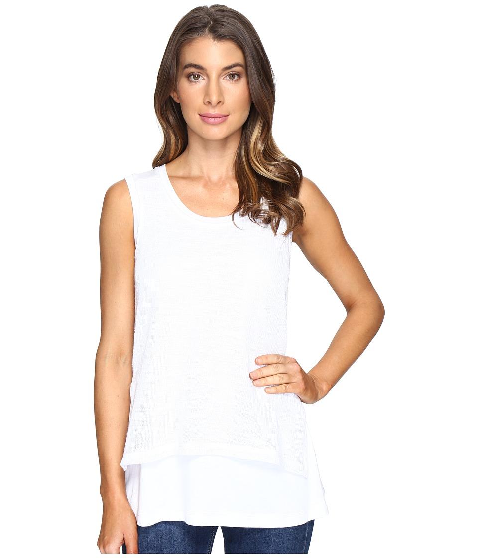 Nally & Millie - Overlay Tank Top (White) Women's Sleeveless