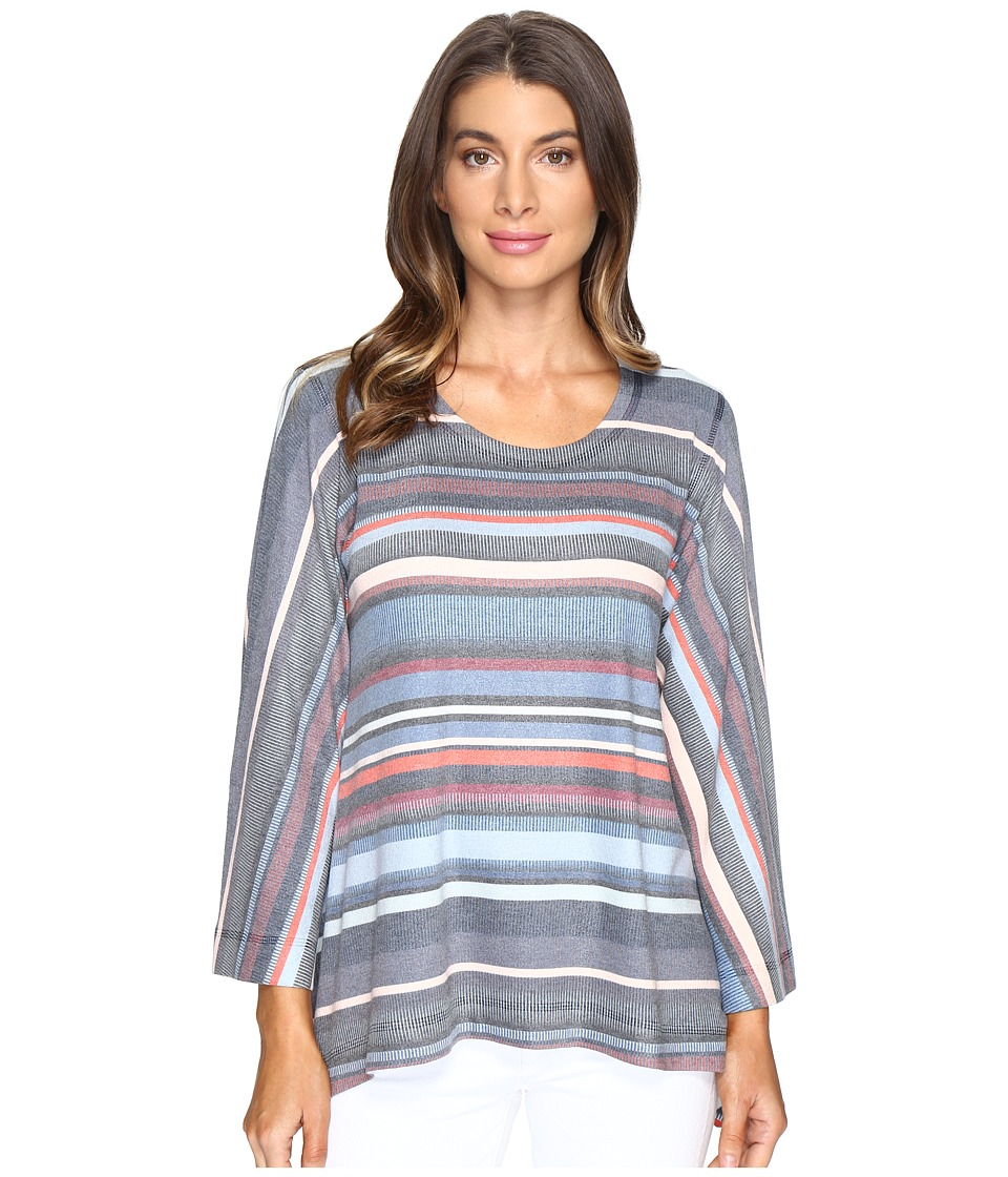 Nally & Millie - Striped Crepe Sweater Top (Multi) Women's Sweater