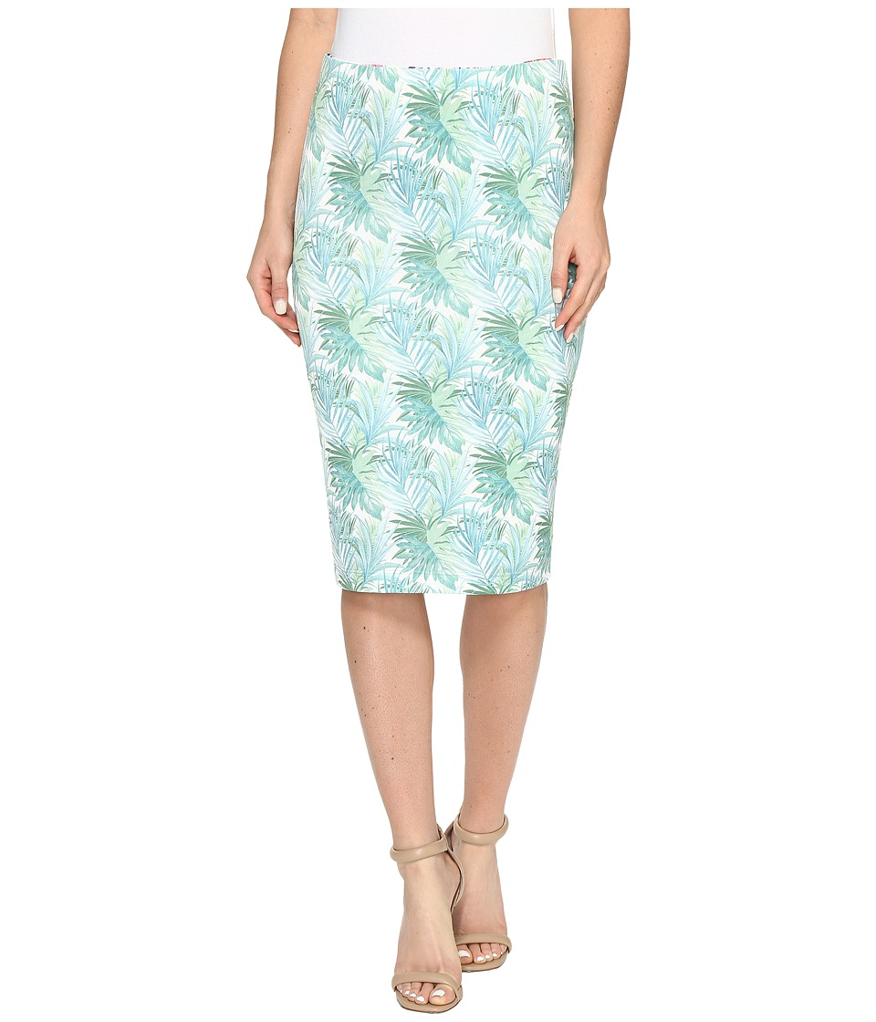 Nally & Millie Reversible Printed Pencil Skirt (Multi) Women's Skirt