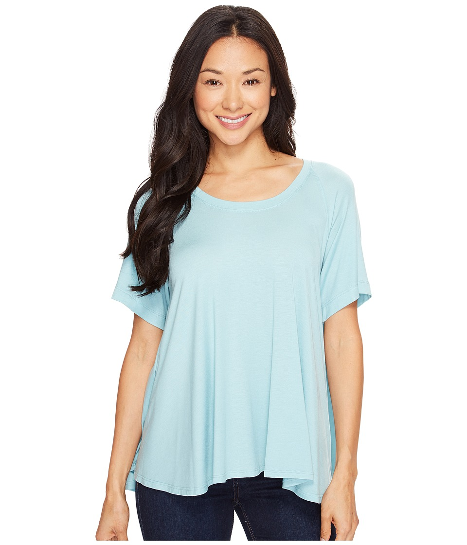 Nally & Millie - Elbow Sleeve Raglan Top (Porceline) Women's Clothing